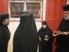 الراهبة رئيسة الدير في استقبال البطريرك
