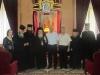 رئيس بلدية سخين, الاب صالح خوري, الارشمندريت فيلوثيوس واخوية القبر المقدس في صورة تذكارية