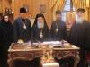 الاسقف تيخون وغبطة البطريرك في صورة تذكارية