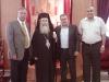 البطريرك, رئيس مجلس دير حنا ,الدكتور خليل اندراوس والسيد موهل خليلي
