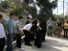 طلاب المدرسة يستقبلون البطريرك