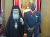 ملك إمبراطورية أسانتي الغانية يزور البطريركية الارثوذكسية