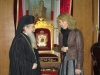 ممثلة القنصلية الايطالية في القدس وغبطة البطريرك