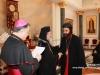 رؤساء الكنائس في القدس يقدمون التهاني بمناسبة عيد الفصح المجيد في بطريركية الروم الارثوذكسية