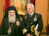 قائد سلاح البحريه اليونانيه يزور بطركية الروم الاورثوذكس