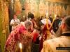 غبطة بطريرك المدينة المقدسة يتراس القداس الالهي في كنيسة القديس جوارجيوس الرومانية