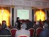 IMG_0220المحاضرة والباحثة الجامعية السيدة أنطونيا ميروبولوس تعرض دراسة ترميم بناء القبر المقدس على ممثلي الكنائس المسيحية في القدس