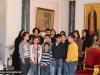 IMG_0014أولاد مدرسة ألاحد في الناصرة وأبناء الطائفة ألاورثوذكسية في الرينة يزورون البطريركية