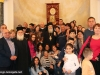 IMG_0056أولاد مدرسة ألاحد في الناصرة وأبناء الطائفة ألاورثوذكسية في الرينة يزورون البطريركية