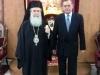 01ألسفير اليوناني الجديد في إسرائيل يزور البطريركية ألاورشليمية