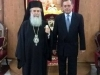 04ألسفير اليوناني الجديد في إسرائيل يزور البطريركية ألاورشليمية