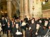 12مراسم الإحتفال بمناسبة الإنتهاء من أعمال تصليح وترميم بناء القبر المقدس في كنيسة القيامة