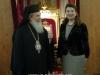سفيرة رومانيا الجديدة في اسرائيل تزور بطريركية الروم الارثوذكسية